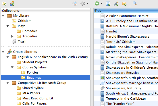 zotero readings