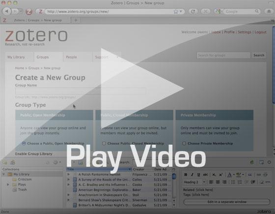 Zotero Groups Play video