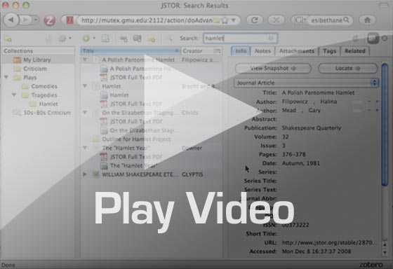 Zotero screencast