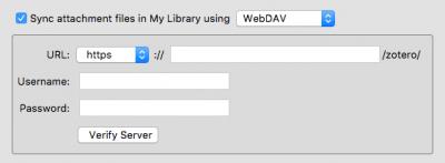 """The """"verify server"""" button in Zotero"""