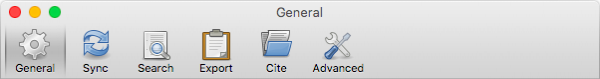 Screenshot of the Zotero preferences window.