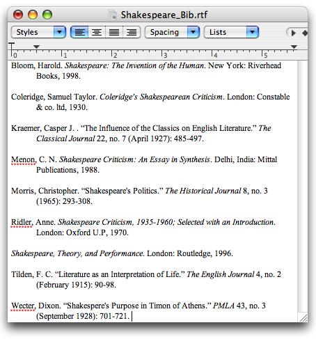 apsa bibliography