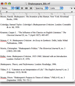 how to do a bibliography on word