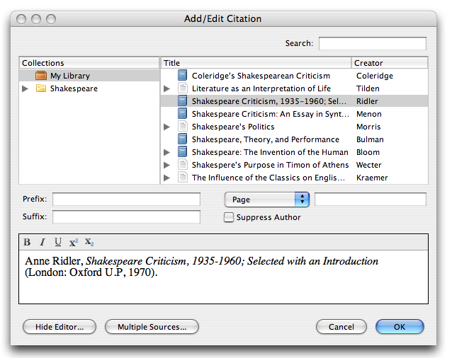 Citation Format Zotero Anything you type into (or delete from) a citation using Word will be automatically reverted the next time Zotero updates your document. In the worst case, ...